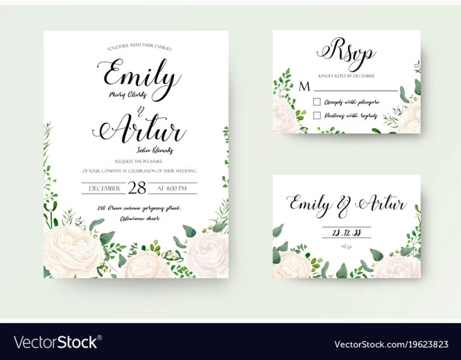 Wedding Invitation Fl Invite Rsvp Cute Card