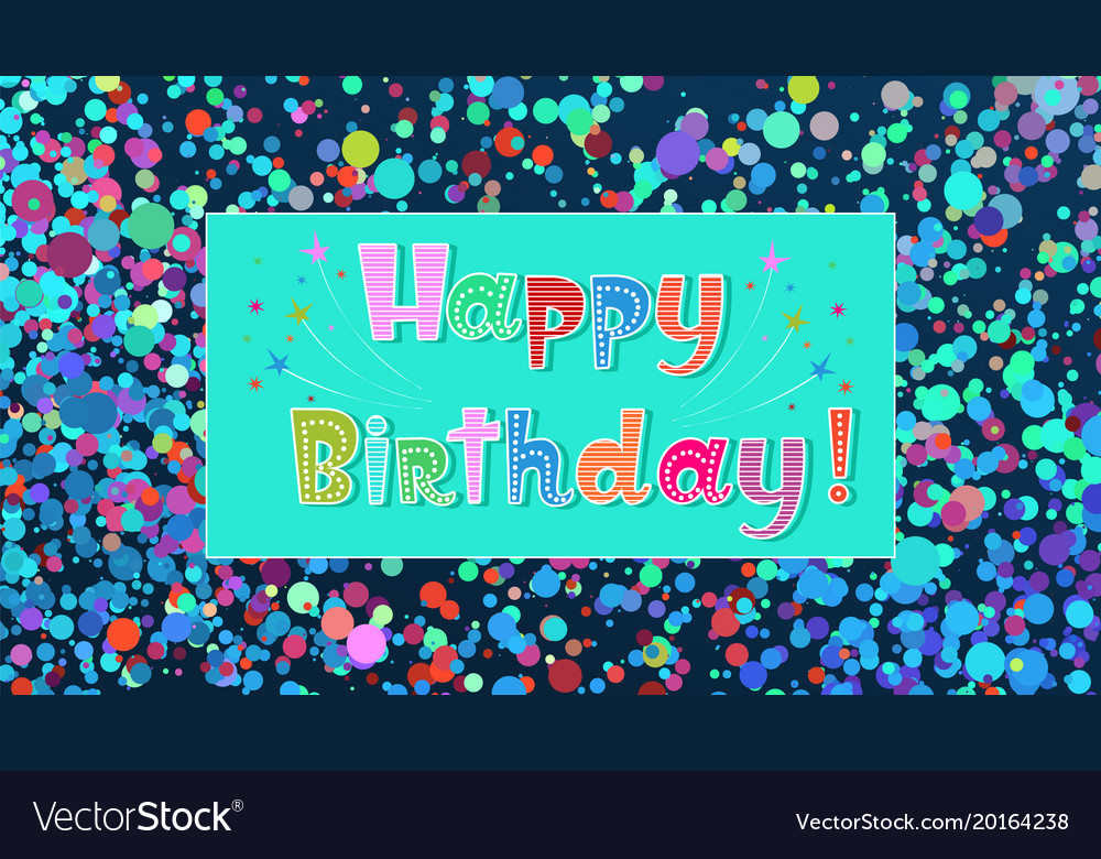 happy birthday invitation card elegant royalty free vector