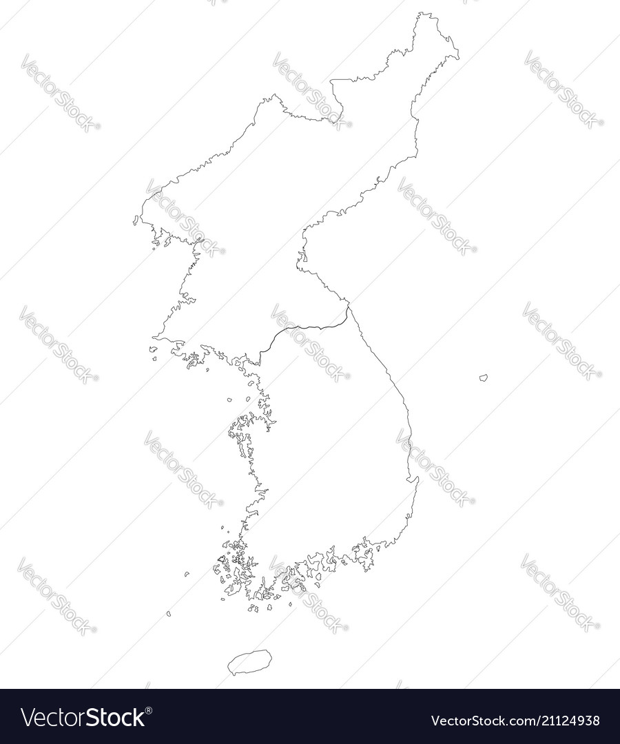 North And South Korea Royalty Free Vector Image
