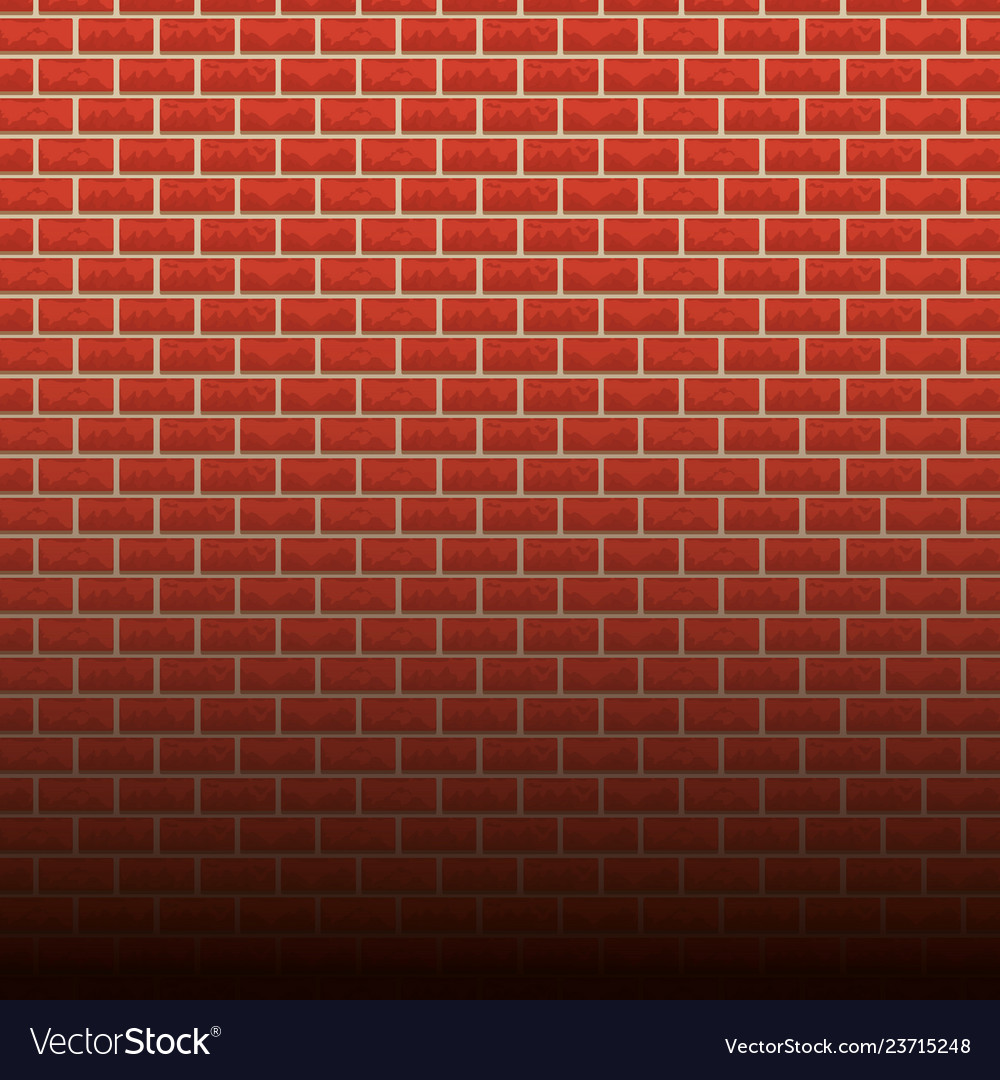 Brick Wall Background Cartoon Royalty Free Vector Image