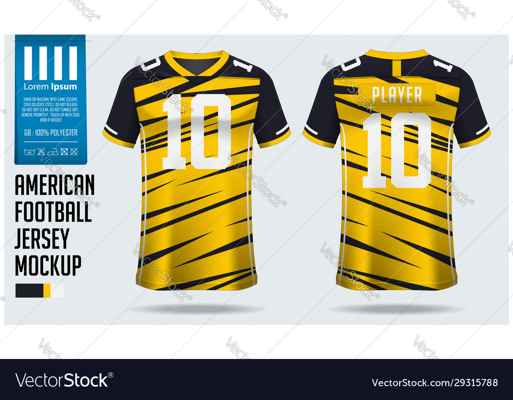 Download American football jersey mockup template design Vector Image