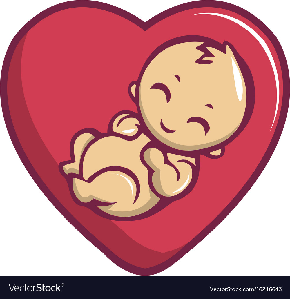 Download Baby love icon cartoon style Royalty Free Vector Image