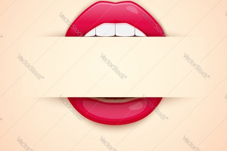 Makeup artist business card template with red Vector Image
