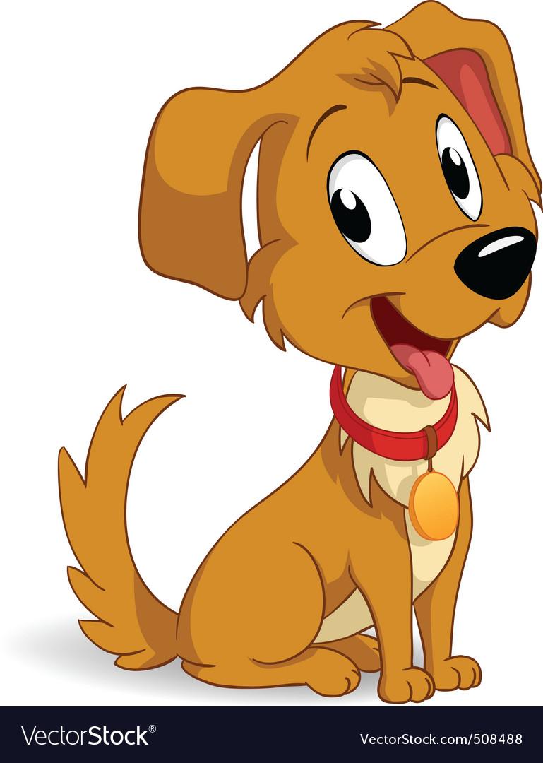 Cute Cartoon Vector Puppy Dog Royalty Free Vector Image