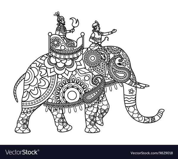 coloring pages elephant # 35
