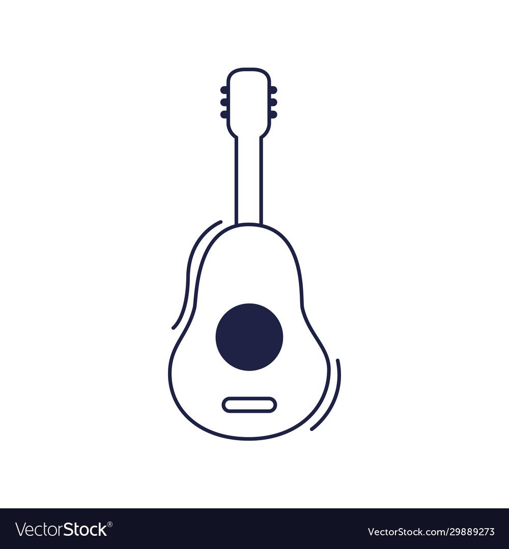 Happy Birthday Guitar Music Instrument Royalty Free Vector