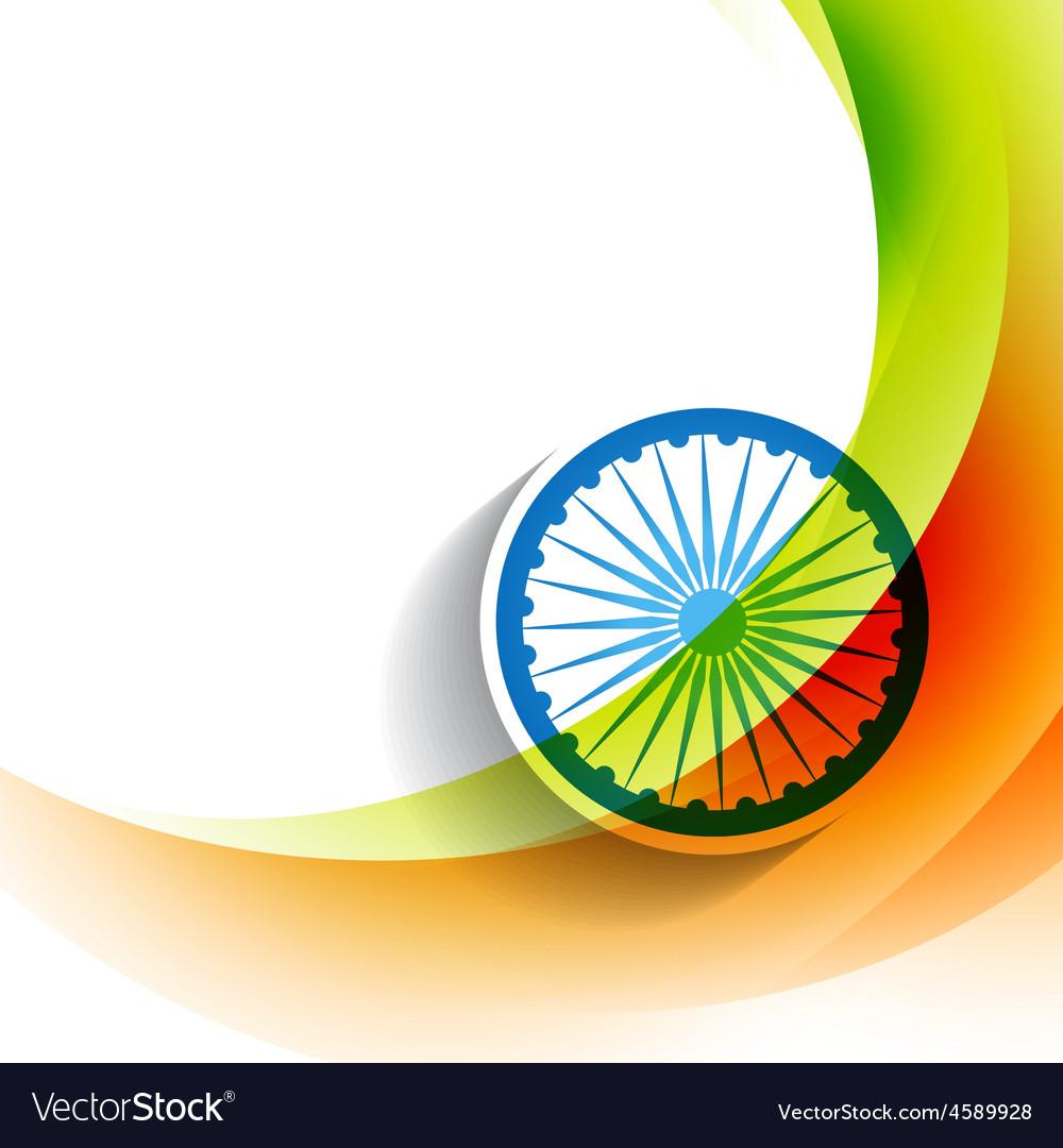 Stylish Indian Flag Background Royalty Free Vector Image