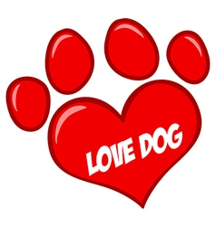 Download Red Love Paw Print Royalty Free Vector Image - VectorStock
