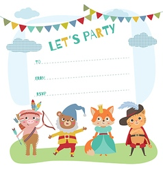 indian birthday invitation card vector