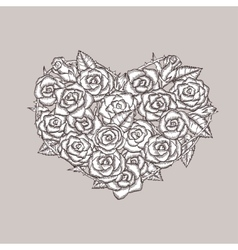 Rose Heart And Drawing Vector Images Over 3 600