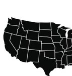 HD Decor Images » Usa   Shape Vector Images  over 6 800  USA map with states icon vector