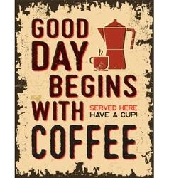 vintage poster coffee retro vector