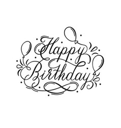 Birthday Calligraphy Happy Lettering Vector Images Over 8 300