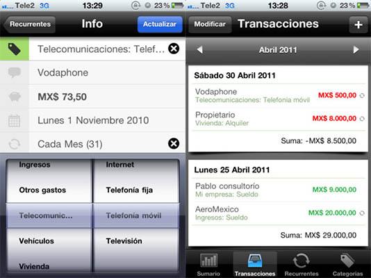 Mis Gastos iphone Aplicaciones para controlar tus gastos y finanzas