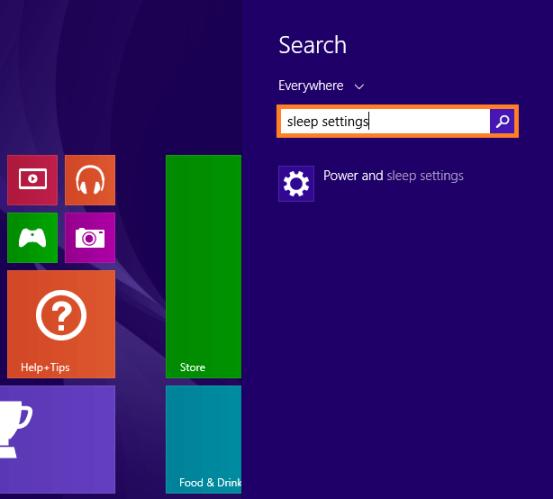Windows 8 Sleep - Настройки питания и сна - WindowsWally