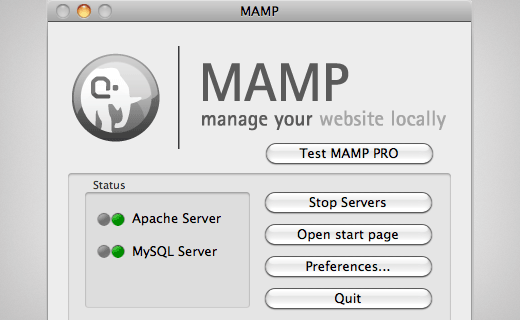 Starting MAMP in Mac OS X