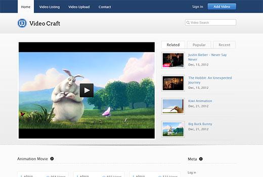 VideoCraft WordPress Theme