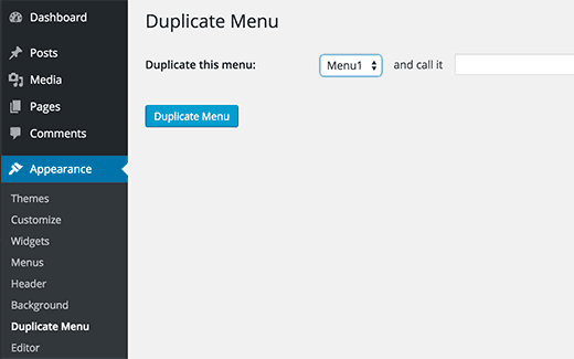 Creating a duplicate menu in WordPress