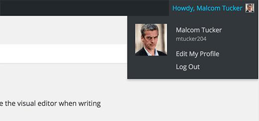 Tên đầy đủ được sử dụng trong khu vực quản trị WordPress