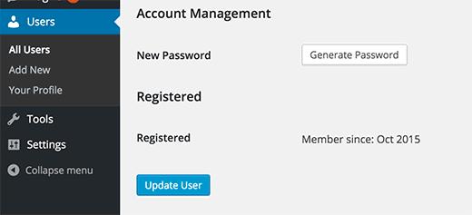 Showing member registration date in WordPress user profile