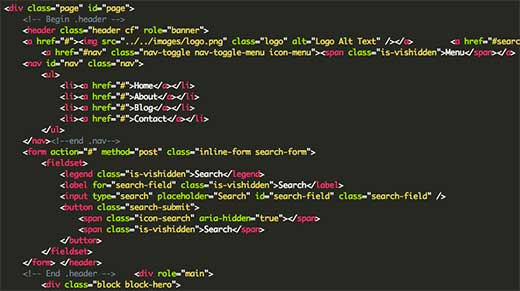HTML code behind a static HTML site web hosting and domain registration services in uganda