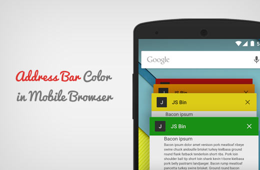 Address bar color in mobile browser for WordPress site