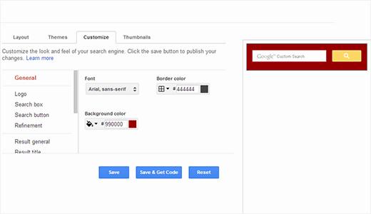 Sesuaikan warna dan tampilan pencarian kustom Google