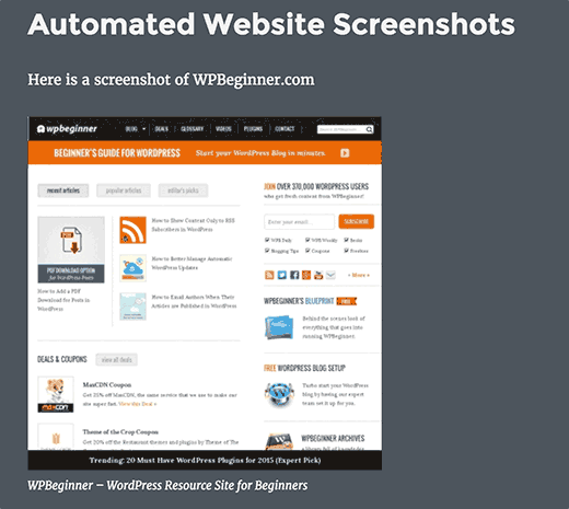 Website screenshot generated with Browser Shots plugin