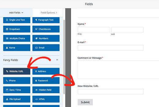 Adding form fields in WPForms