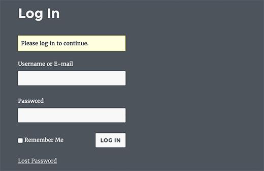 Custom login page created with Theme My Login plugin