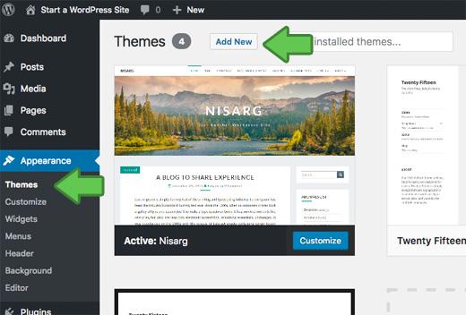 Install WordPress Themes