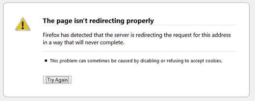 Too many redirects error in WordPress
