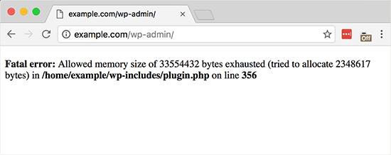 Kesalahan memori habis ditampilkan di situs WordPress