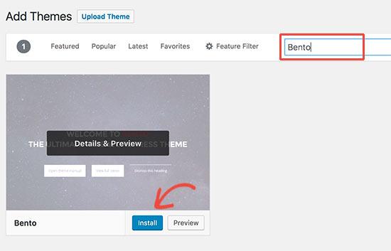 Instalar tema de WordPress