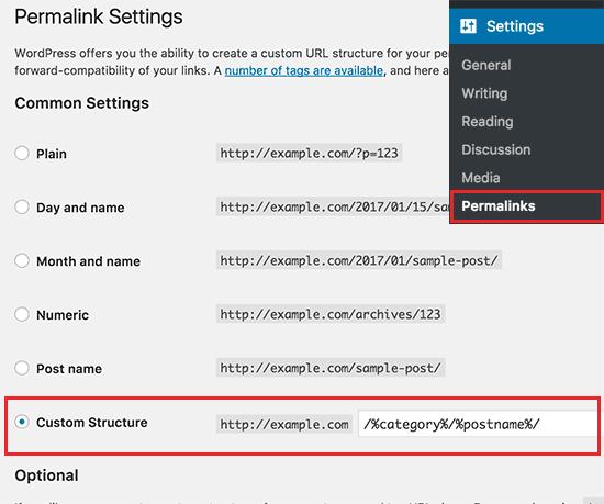 Adding category to WordPress post URLs