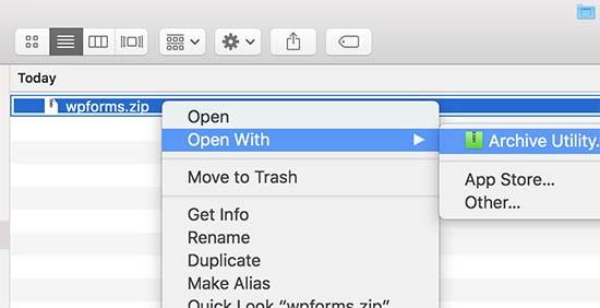 Unzip plugin file