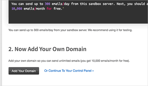 Add your domain to Mailgun