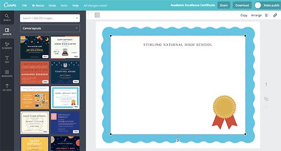 Creating a certificate template