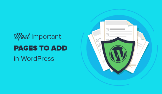 Important pages each WordPress site should have