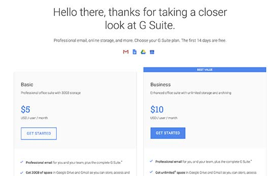 Get started with Gsuite