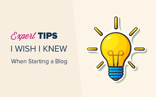 Expert tips for starting a blog