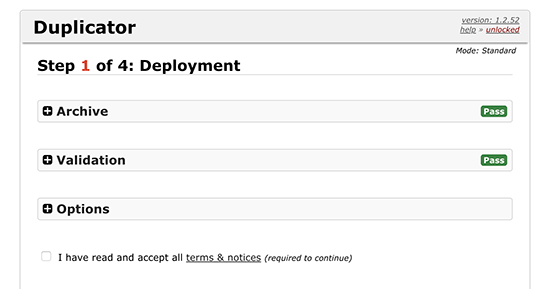 Running installer script