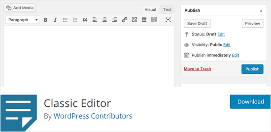 Классический редактор WordPress плагин