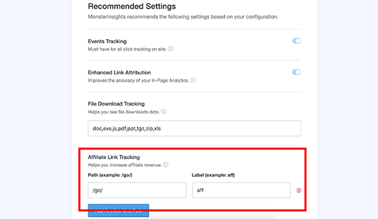 Recommended settings for Google Analytics