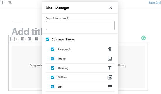 El nuevo administrador de bloques en WordPress