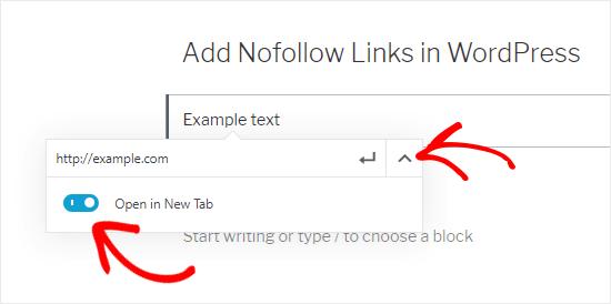 Añadir enlace externo al cuadro de texto