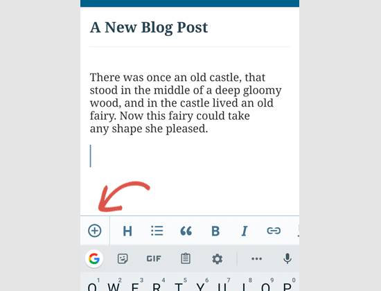 Editing posts in the WordPress app