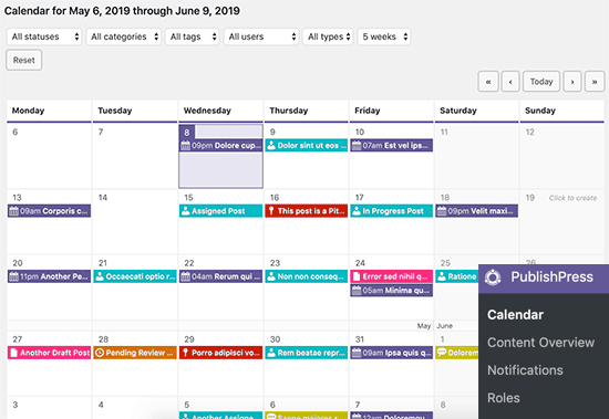 Managing your editorial calendar