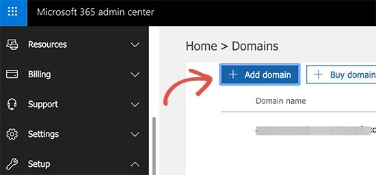 Tambahkan domain ke Office 365