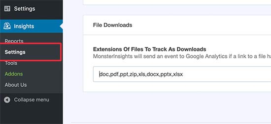 File downloads to track